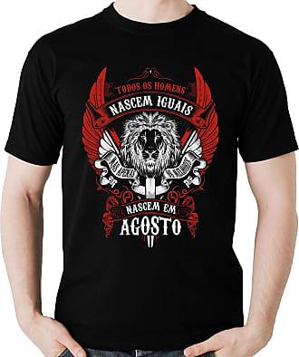Dragon Store Camiseta Homens de Agosto os Melhores Signo Leão