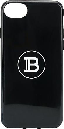 Balmain Capa para iPhone 6/7/8 com estampa de logo - Preto