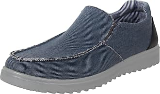 iLoveSIA Mens Loafer Canvas Casual Shoes Blue New UK Size 8.5