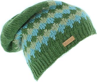 KuSan Mens 100% Wool Floppy Beanie hat (KU1111) (Green)