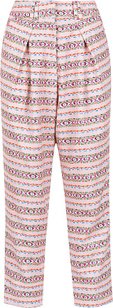 OLYMPIAH printed Papa cropped trousers - Pink