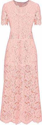 Ganni Ganni Woman Duval Corded Lace Midi Dress Pastel Pink Size 38