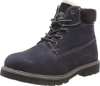 Dockers by Gerli Unisex Kids 35fn701 Combat Boots, Blue (Navy 660), 6.5 UK