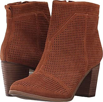 efa6cfdd728 Toms Lunata Bootie (Cinnamon Suede Perforated) Womens Zip Boots