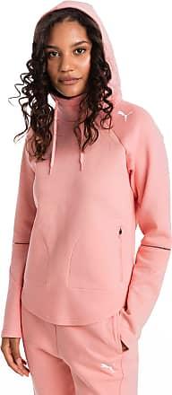 Puma Evostripe Move Womens Hoodie, Peach Bud, size X Large, Clothing