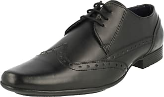 b3a55b1706cfef Lambretta Mens Formal Lace Up Brogue Shoes Bradley - Black Leather - UK  Size 9 -