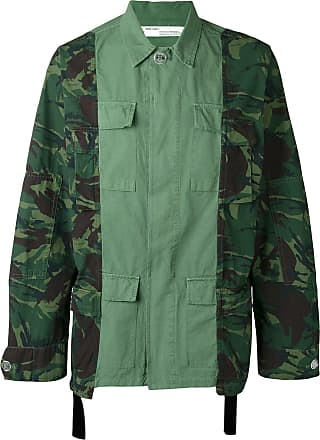 Off-white camouflage print cargo jacket - Green
