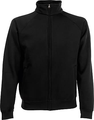 Fruit Of The Loom Mens Premium 70/30 Full Zip Sweatshirt Jacket (XL) (Black)
