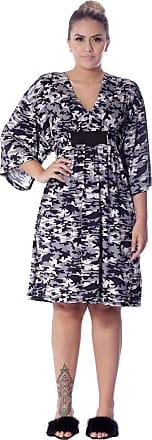 FicaLinda Kaftan Curto com Proteção UV Estampa Militar Camuflada