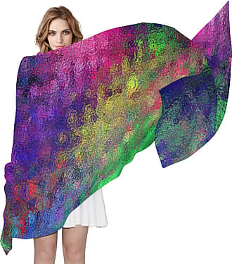 Lorona Womens Rainbow Art Scarf Sheer Silky Feeling Long Scarves Lightweight Wrap Shawl