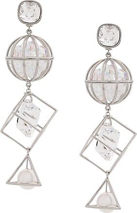 6f24da32a4a70 Swarovski Nostalgia Triple Drop earrings by Mary Katrantzou - Prateado