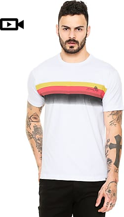 Reef Camiseta Reef Stripes Sunset Branca