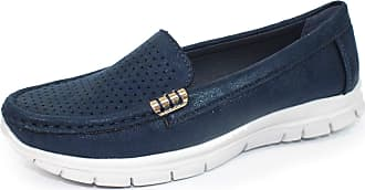 Lunar Womens Bellagio Light Weight Moccasin 6 UK Navy
