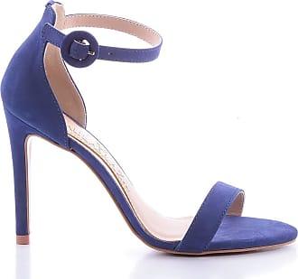 Paula Brazil Sandália Miriam 1000-80560 Couro Azul (Petalo safira) Azul - 39