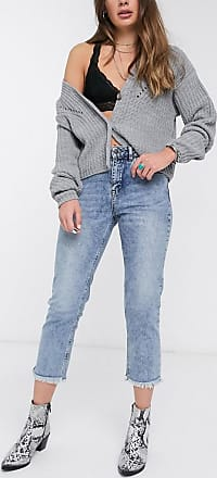 Object cropped mom jeans in mid blue