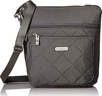 Baggallini Quilted Pocket Crossbody with RFID, PewterQuilt
