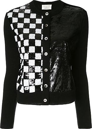 Onefifteen sequin checked cardigan - BLACK