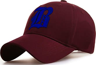 4sold Casual Baseball Gothic B Letter Cap Caps Snap Back Hat Hats Snapback (B Maroon Blue)
