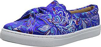Qupid Womens MOIRA-03 Sneaker, Blue/Multi, 9 M US