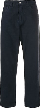 Ymc You Must Create tapered textured trousers - Azul
