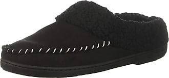 Dearfoams Womens Microsuede Clog Slipper, Black, M Regular US