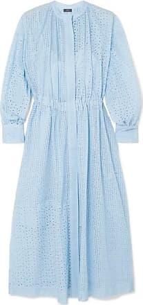 Joseph Rafael Broderie Anglaise Cotton-blend Midi Dress - Blue