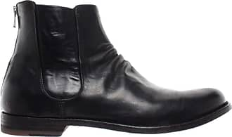 Officine Creative Mens Shoes Ankle Boots Graphis /002 Novak Nero Leather Black