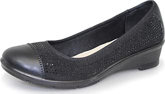 ed16f68be36066 Lunar Womens Cordelia Diamante Wedged Pump 4 UK Black