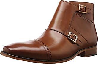 73696ec8c Stacy Adams Mens Kason Cap Toe Double Monk Strap Side Zipper Boot Chukka
