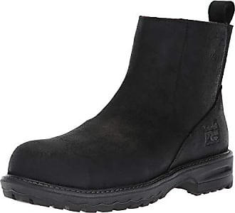 Timberland PRO Womens Hightower Chelsea Composite Toe SD+ Industrial Boot, Black Distressed Leather, 7 M US
