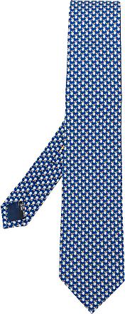 Salvatore Ferragamo Cravatta con stampa - BLUE