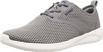 Crocs Mens Literide Mesh Lace M Low-Top Sneakers, Grey (Smoke/White 06x), 11 UK