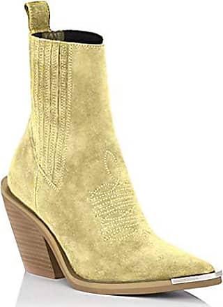Wadenhohe Stiefel Hocher Absatze Damen Schuhe Plateau Schuhe Fahion Mode Gr43