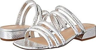 Franco Sarto Womens Fitz Heeled Sandal, Silver, 6 M US