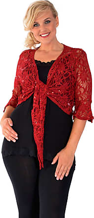 Nouvelle Collection 2 Way Sequin Shrug Wine 16-18