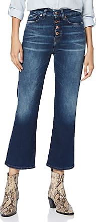 7 For All Mankind Womens Hw Vintage Cropped Boot Bootcut Jeans, Blue Dark Blue PL, 32W / 28L