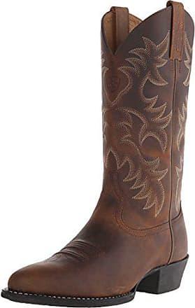 Ariat Ariat Mens Heritage Western R Toe Cowboy Boot, Distressed Brown, 11.5 EE US