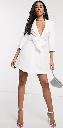 4th & Reckless 4th & Reckless tie blazer in white