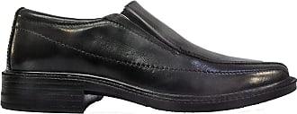 Roamers Roamer Mens Joe Superlightweight Twin Gusset Leather Loafer Shoes (10 UK Men, Black)