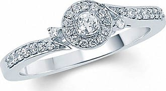 Zales 1/5 CT. T.w. Diamond Frame Bypass Promise Ring in 10K White Gold