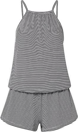 Eberjey Striped Pima Cotton-jersey Playsuit - Navy