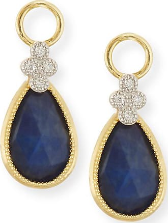 Jude Frances Provence Labradorite Black Onyx Earring Charms With Diamonds