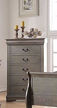 ACME Louis Philippe 23866 Chest, Antique Gray, One Size