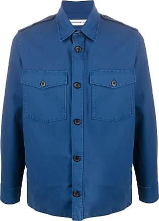 Department 5 Camisa slim mangas longas - Azul
