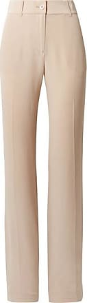 Equipment Lita Washed-silk Wide-leg Pants - Beige