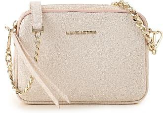 Lancaster Shoulder Bag for Women On Sale, Golden Pink, Leather, 2017, one size