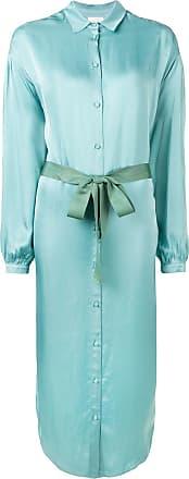 Forte_Forte long shirt-styled dress - Azul