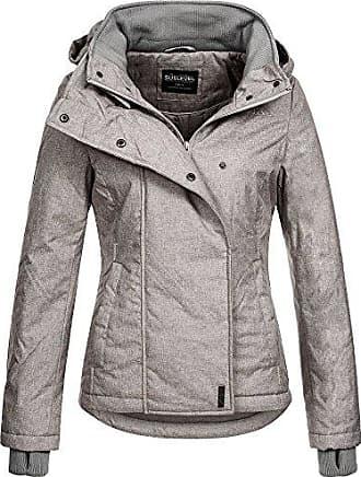 SUBLEVEL Damen Winterjacke mit Kapuze im Melange Look
