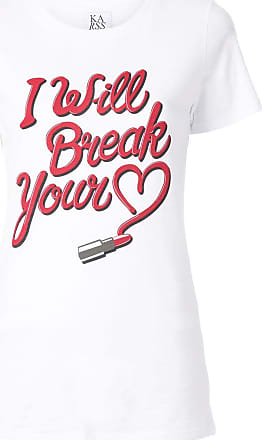Zoe Karssen Camiseta I Will Break Your Heart - Branco