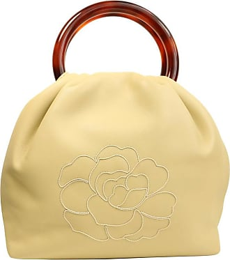 Chanel Beige Leather With White Stitched Camellia Bucket Bag Tortoise Handle c195604f91b88
